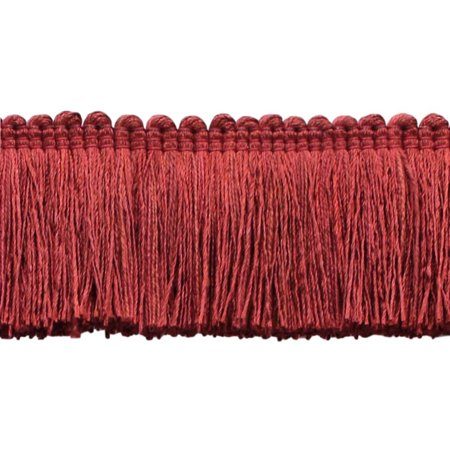 Veranda Collection 2 Brush Fringe Trim Brick Red Style 0200vb