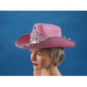 Loftus Rodeo Queen Sequins & Tiara Cowgirl Hat, Pink, One Size