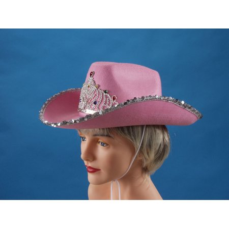 Loftus Rodeo Queen Sequins & Tiara Cowgirl Hat, Pink, One - Cowgirl Hats