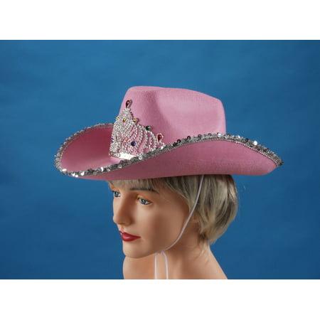 Loftus Rodeo Queen Sequins & Tiara Cowgirl Hat, Pink, One Size