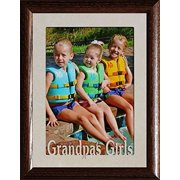 5X7 Jumbo ~ Grandpa's Girls Photo Frame ~ Holds A 5X7 Portrait Photo ~ Christmas, Birthday For Grandpa/Papa Gift (Walnut)