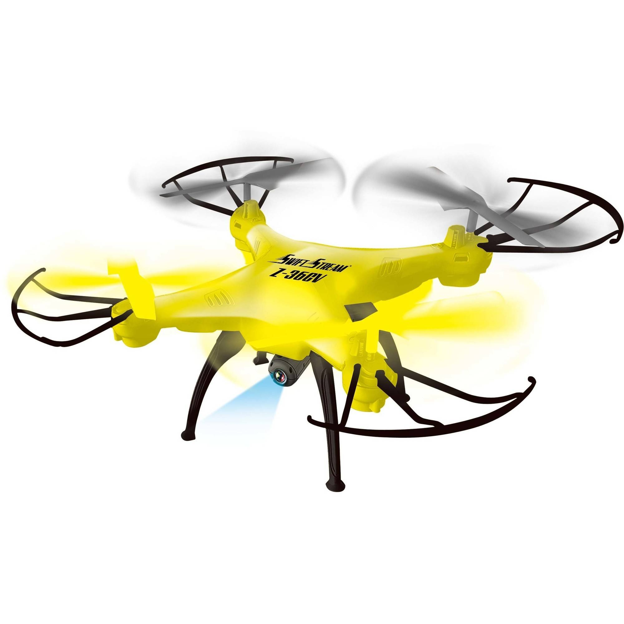 Swift Stream Z-36CV 2.4GHz 5-Channel RC Drone with Camera and 2GB Memory Card, Yellow