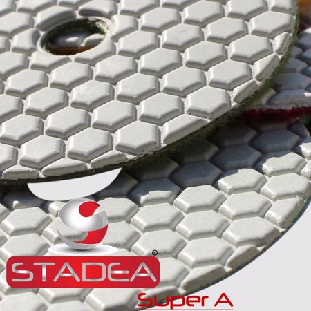 Stadea PPD161K 3 Inch Buffing Pad Diamond - Concrete Buff White