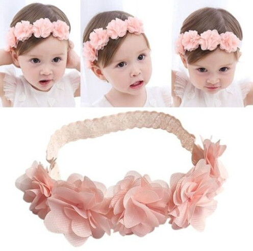 Outtop Toddler Baby Girl Kids Elastic Floral Headband Hair Girls baby Hairband Headwear