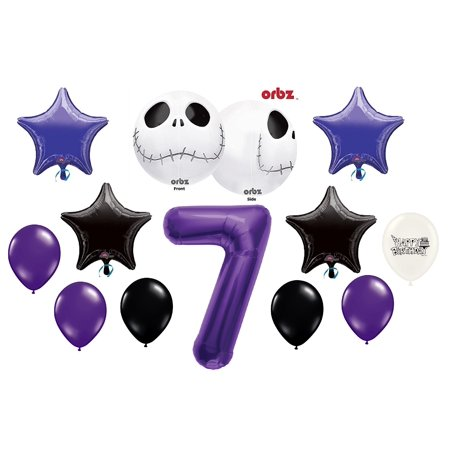 7th Birthday Party Jack Skellington Nightmare Before Christmas Balloon Bouquet