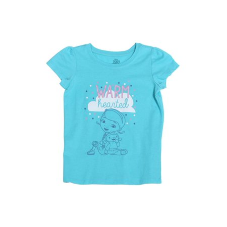 Doc McStuffins Toddler Warm Heart Short Sleeve T-Shirt, Aqua - Doc Mcstuffin Shoes For Toddlers