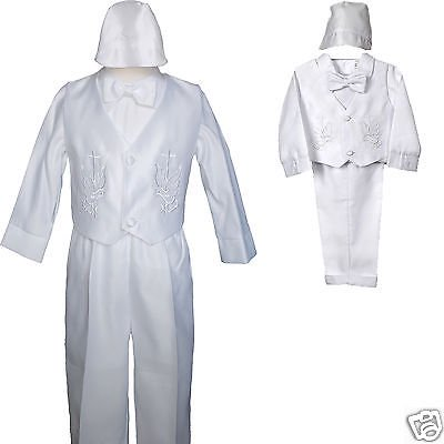 Baby Boy Communion Christening Baptism Outfit Suit set size XS S M L XL(0M-24M) (First Communion Boy Clothes)