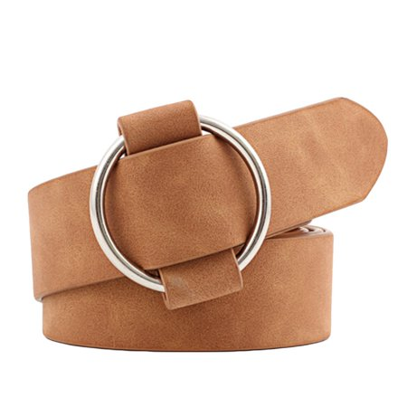 SHOPFIVE New Fashion Womens Designer Round Casual Ladies Belts For Jeans Modeling Belts Without Buckles Leather Belt Cinturon Mujer Stylish Designer Leather Belt Buckle