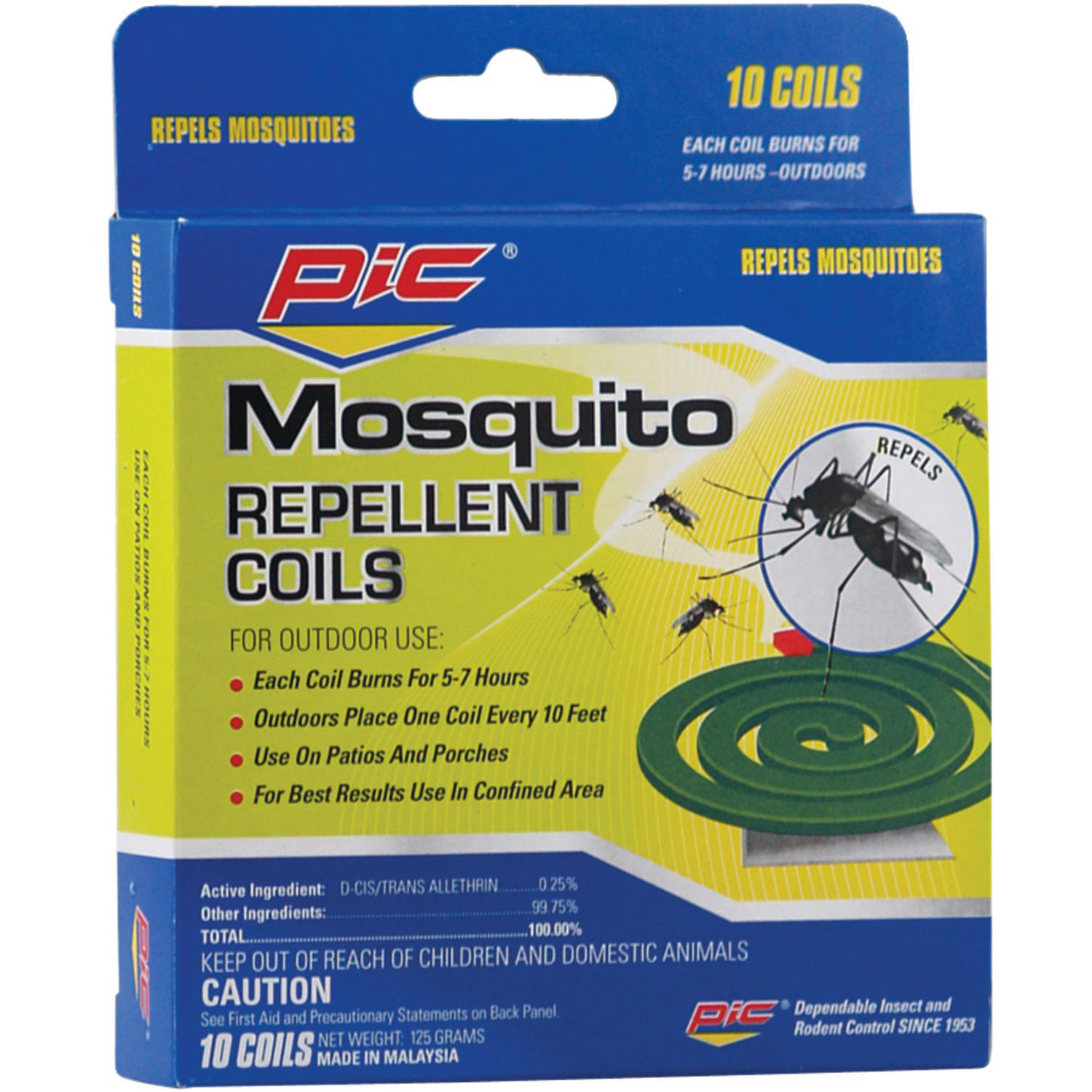 Pic Mosquito Repellent Coils, 10 Pack