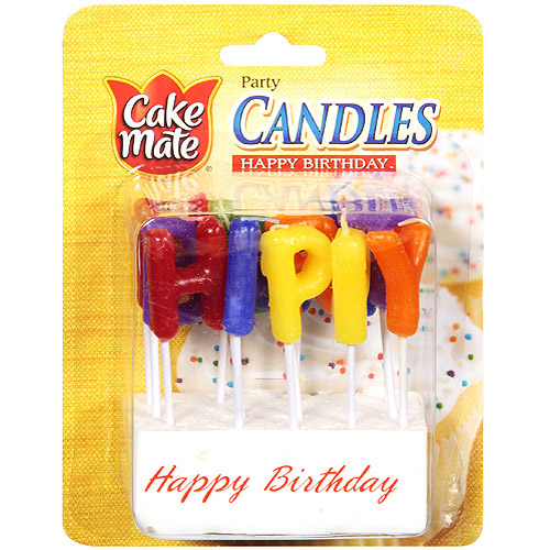 Cake Mate Happy Birthday Party Candles, 13ct