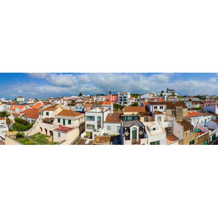 Elevated View Of The Cityscape Ponta Delgada Sao Miguel Island Azores Portugal Poster Print By Panoramic Images
