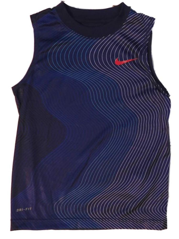 galope Noticias jefe  Nike - Nike Boys Blue Dri-Fit Muscle Shirt Active Tank Top - Walmart.com -  Walmart.com