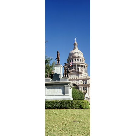 Statue with a government building in the background Confederate Soldiers Memorial Texas State Capitol Austin Texas USA Canvas Art - Panoramic Images (36 x 12)