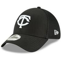 Minnesota Twins New Era Neo 39THIRTY Unstructured Flex Hat- Black