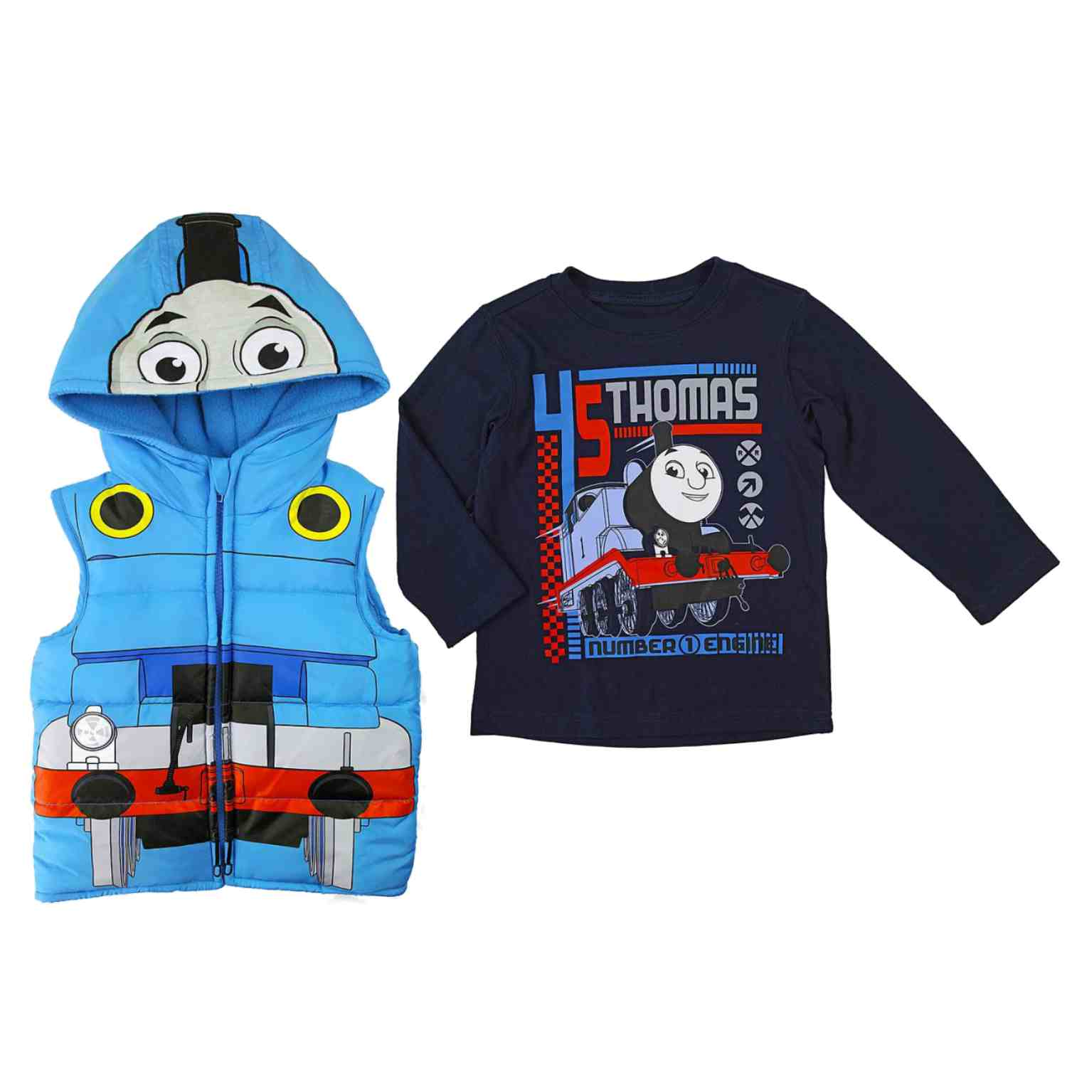 Thomas & Friends Infant & Toddler Boys Blue Train Engine Shirt & Vest Set