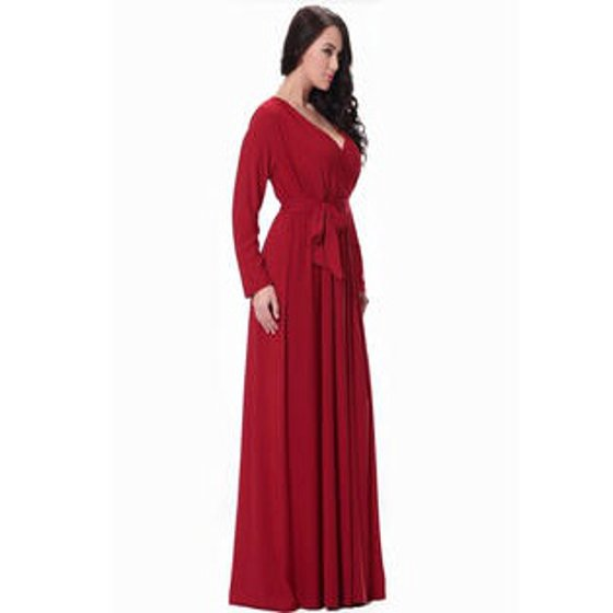f5ef63eb1 Unomatch - Unomatch Women Plus Size Pleated Maxi Gown Party Dress ...