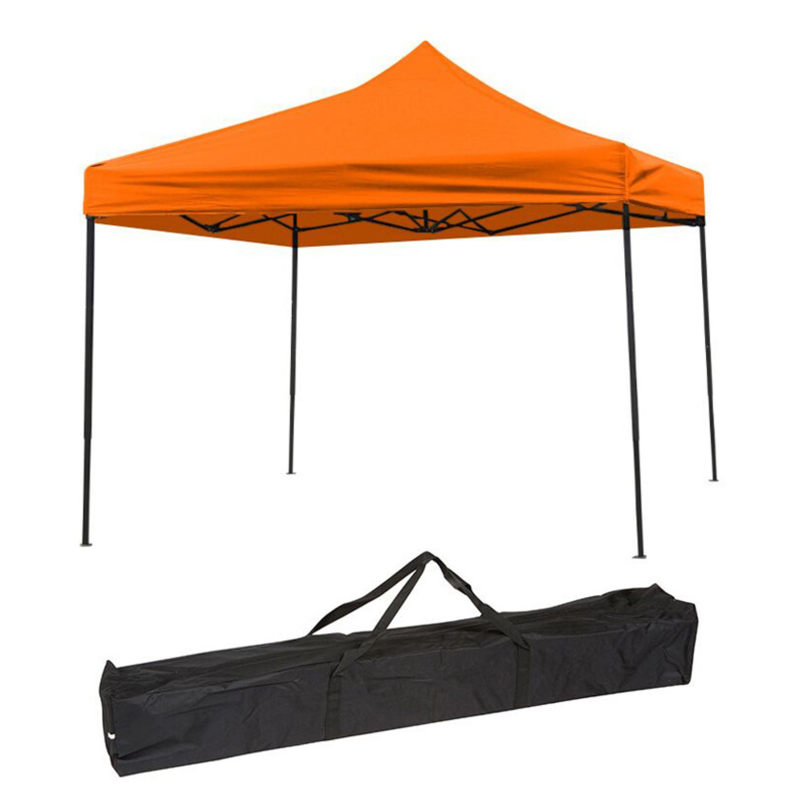 Lightweight & Portable Canopy Tent Set - 10' x 10' - By Trademark Innovations (Black Canopy Cover)