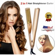 2 IN 1 MESTAR IRON PRO Hair Straightener Curling Iron Negative Ions Wavy Syling Tool Salon Wet&Dry Hot