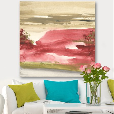 Traditional Rock (DESIGN ART Designart 'Red Rock I' Traditional Premium Canvas Wall Art - Red )