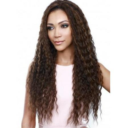 bobbiboss synthetic hair weave-a-wig - maya (4 - med brn) ()
