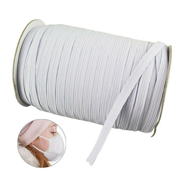 125 Yards Elastic Bands For Face Mask Woven Width Elastic Cord For Crafts Elastic Rope 1 4 Width 1 Roll Walmart Com Walmart Com
