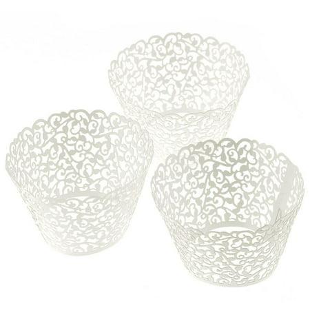 100 Filigree Little Vine Lace Laser Cut Cupcake Wrapper Liner Baking Cup