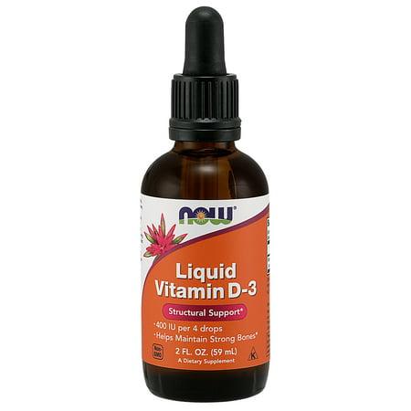 NOW Supplements, Vitamin D-3, Liquid, 2-Ounce (Best D3 Supplement Brand)