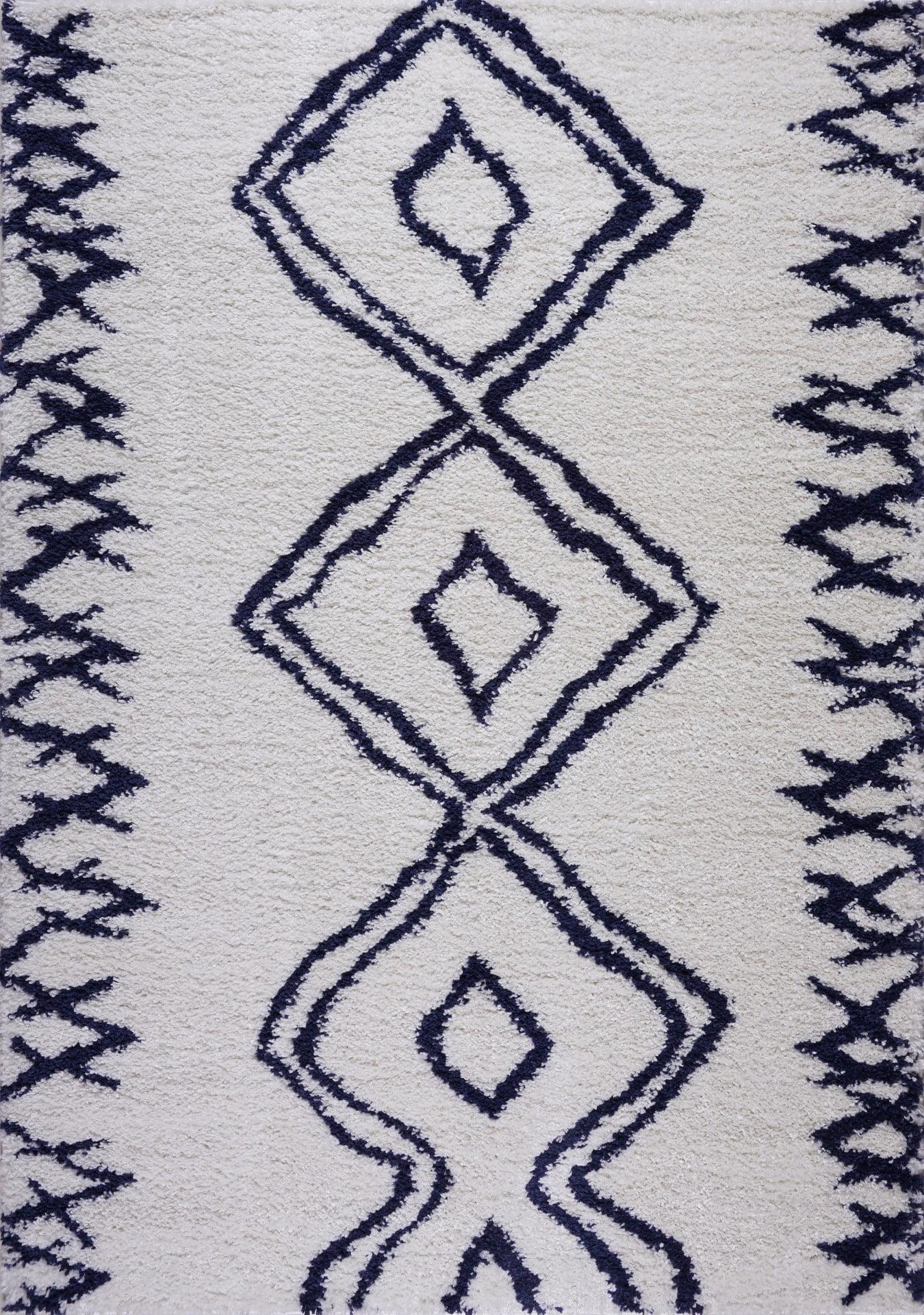 Ladole Rugs Shaggy Casablanca Contemporary Abstract Area