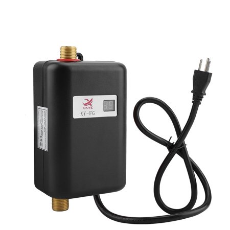 HERCHR Water Heater, 110V 3000W Mini Electric Tankless Instant Hot Water Heater Bathroom Kitchen Washing US, Hot Water Heater, Instant Water Heater
