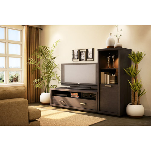 South Shore Skyline TV Stand (42'') and Media Tower Set, Chocolate