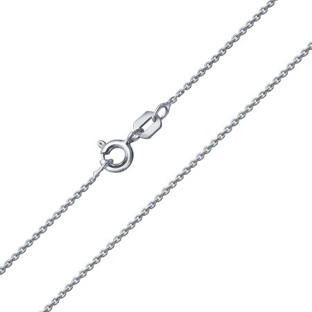 Thin 20 Gauge 1 MM 925 Sterling Silver Rolo Cable Chain Necklace For Women For Teen Made In Italy 16 18 20 24 - Thin Rolo Chain
