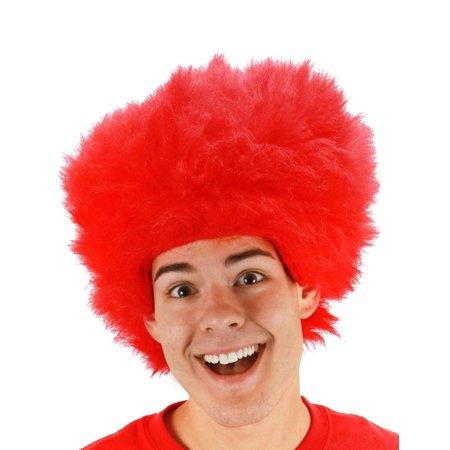 Fuzzy Red Wig Costume Accessory](Fuzzy Wigs)
