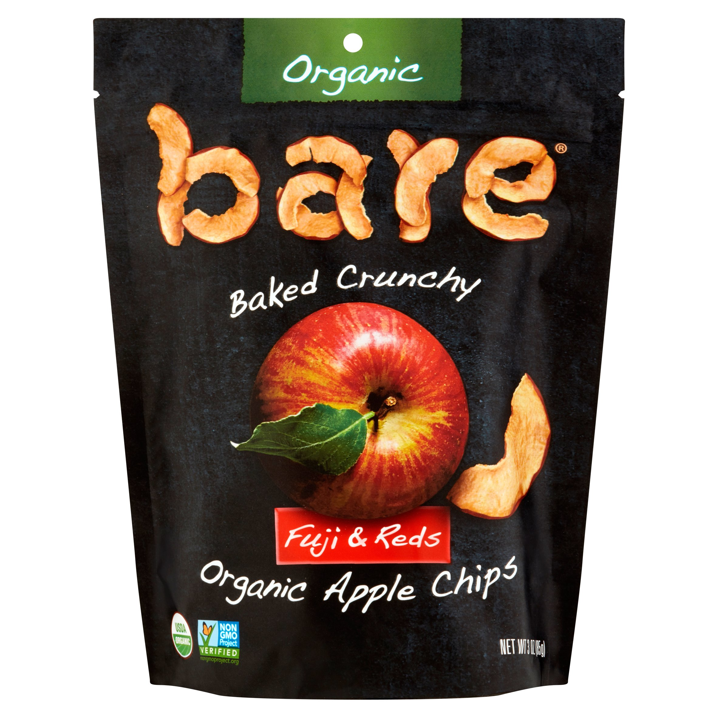 Bare Baked Crunchy Fuji & Reds Organic Apple Chips, 3 oz, 12 pack