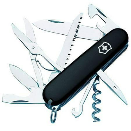 Black Victorinox Swiss Army Knife (Swiss Army Huntsman Pocket Knife (Black) by Victorinox Swiss)