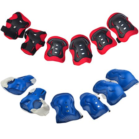 6PCS Kids Skating Knee Elbow Waist Protective Gear Pads Set Support Brace Guards for Children Skateboarding Cycling Sports - Gears For Kids
