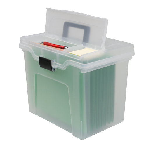 Iris Portable File Box with Organizer Top - Walmart.com