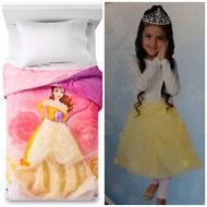 Disney Princess Belle Twin Comforter w/ Removable Wearable Skirt