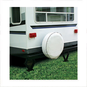 "Camco 27"" RV Spare Tire Vinyl Cover, Colonial White"