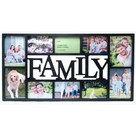 NEXXT PH00120-7FF Family 10 Opening Black Collage Frame 14.5 x 28.5 In.