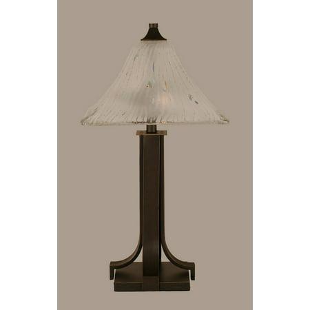 Toltec Lighting-577-DG-651-Apollo - Two Light Table Lamp  Dark Granite