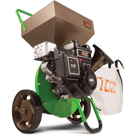 Tazz Chipper Shredders K42 Chipper Shredder with 205cc Briggs and Stratton Engine, Green