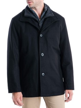 Fog Men's Button Front Car Coat with Bibby Lining, up to Size XL