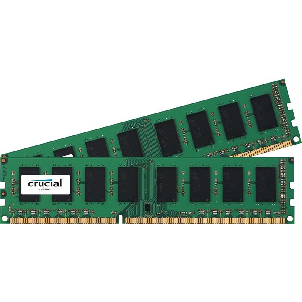 Crucial 8GB (2x4GB) DDR3 SDRAM 1600 MHz 1.50 V Unbuffered 240-pin DIMM Memory