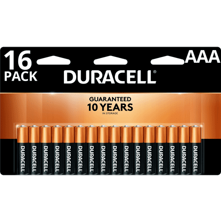 Duracell 1.5V Coppertop Alkaline AAA Batteries 16 Pack (Aaa Battery Case)