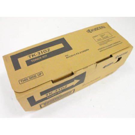 Kyocera TK3102 Tk-3102 Black Toner Cartridge Includes Waste Toner Container For Use In