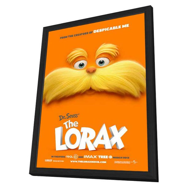 Dr Seuss The Lorax 2012 11x17 Framed Movie Poster Walmart Com Walmart Com