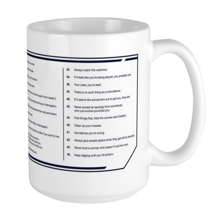 09 Large Mug (CafePress - NCIS Gibbs' Rules Large Mug - 15 oz Ceramic Large Mug)