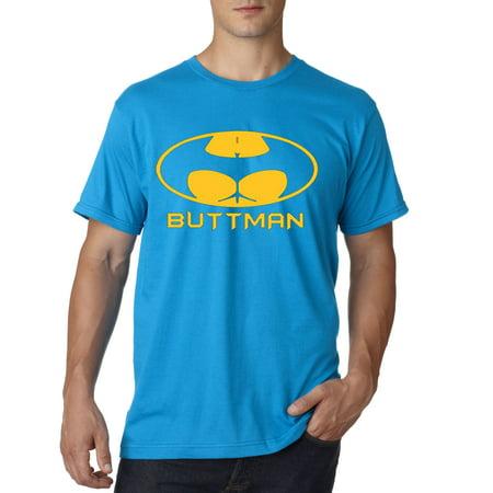 Blue And Grey Batman (195 - Unisex T-Shirt Buttman Batman Logo)