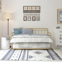 DHP Wallace Metal Daybed with Trundle, Multiple Options Available