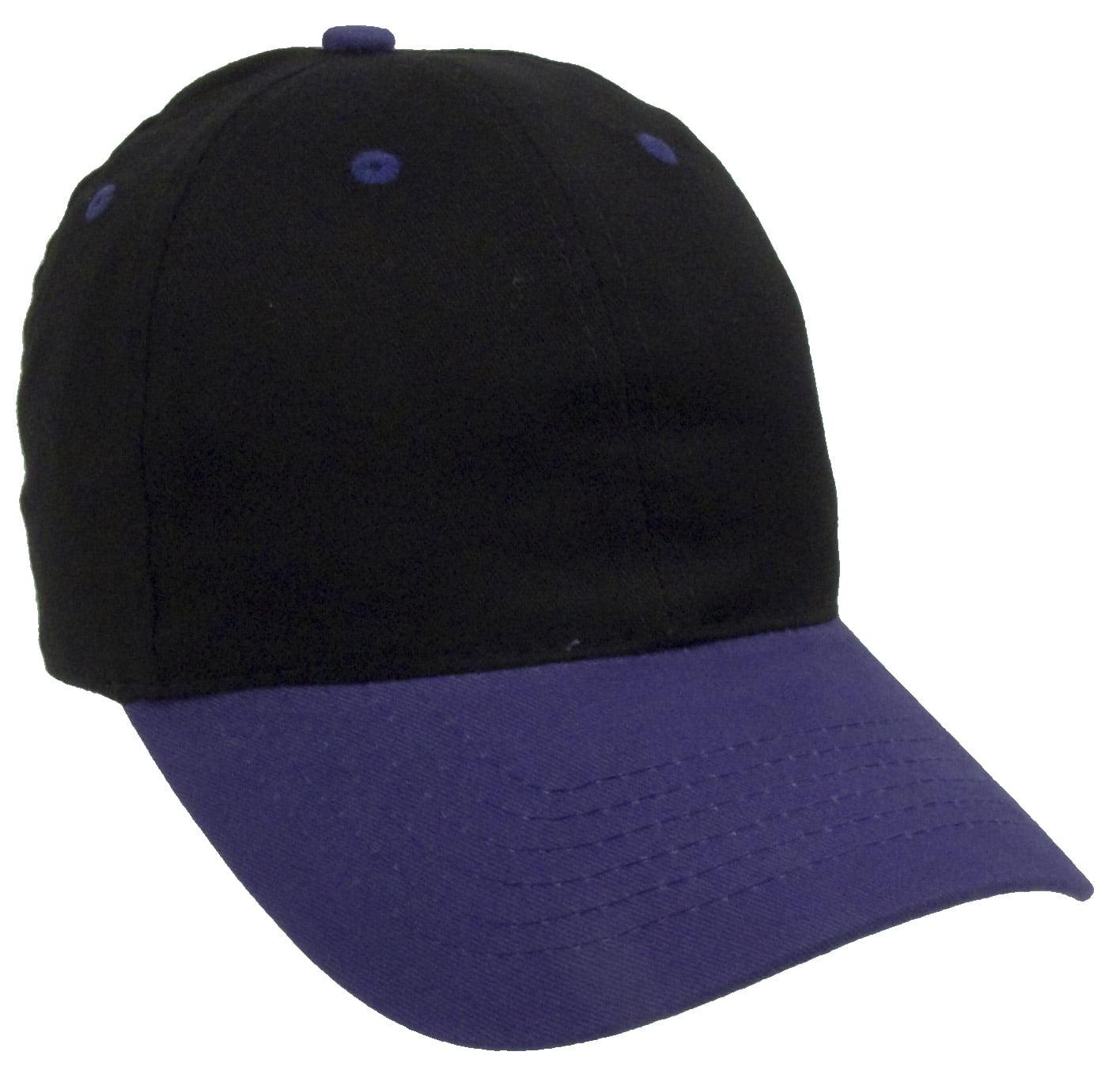 7089c091d98b0 Two Tone Plain Baseball Cap Unstructured Blank Hats - Walmart.com